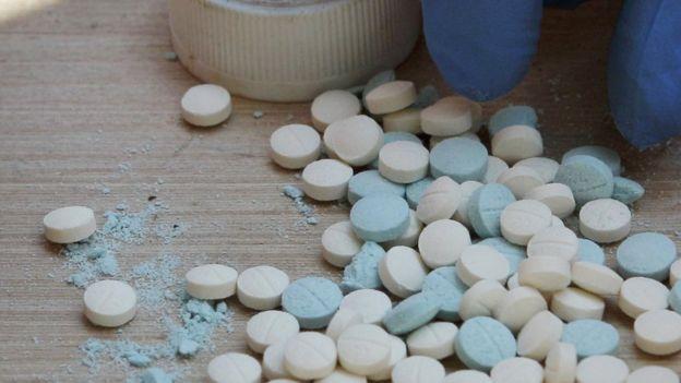 Píldoras confiscadas en un operativo antidrogas