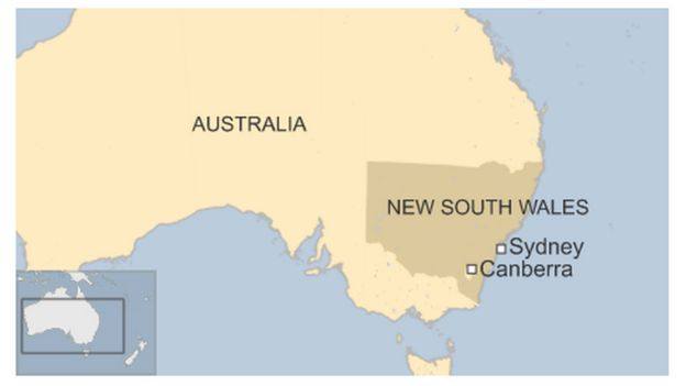 Australia Shark Tagging Boosted After Surfer Attack BBC News - World map highlighting australia