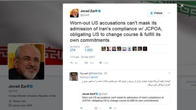 توییت جواد ظریف