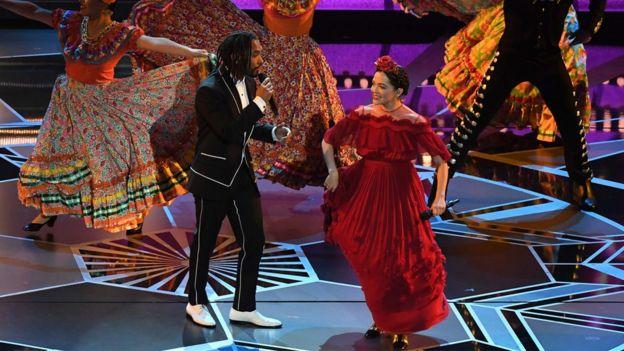 Natalia Lafourcade, en el escenario.