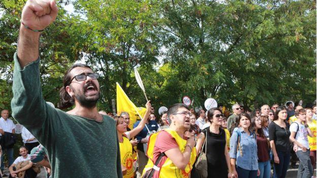 Протест в Анкаре, 22 сентября 2016