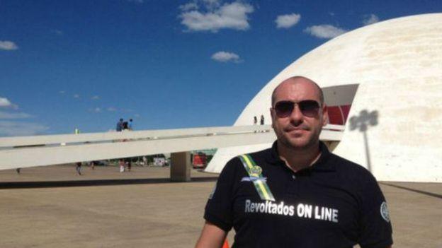 Marcello Reis, o fundador do grupo Revoltados Online
