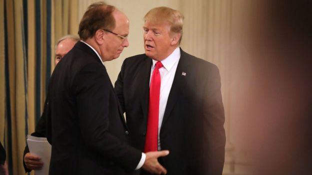 Trump y el CEO de Blackrock