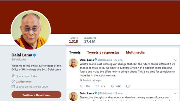 Cuenta de Twitter de Dalai Lama