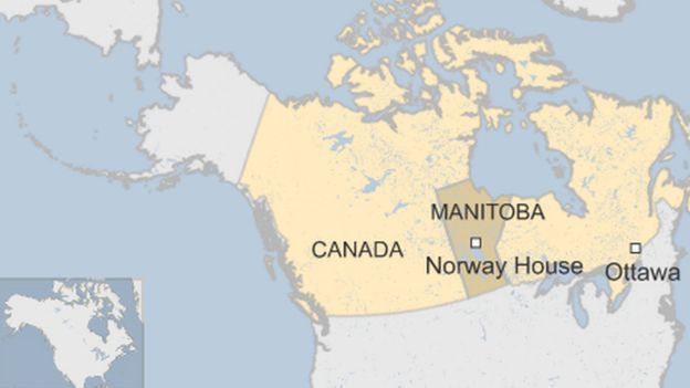 Canadians Switched At Birth In Second Case At Hospital BBC News - Norway house map