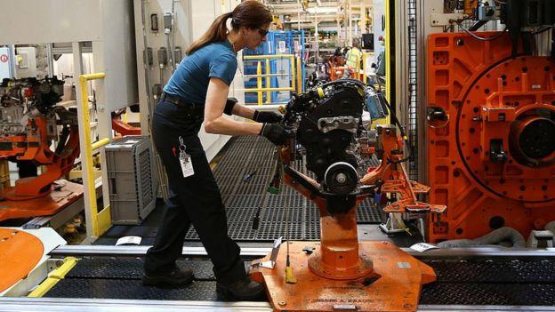 Worker at Ford Dagenham plant