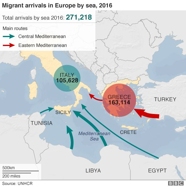 Thousands Of Migrants Rescued Off Libya BBC News - Bbc us immigration map
