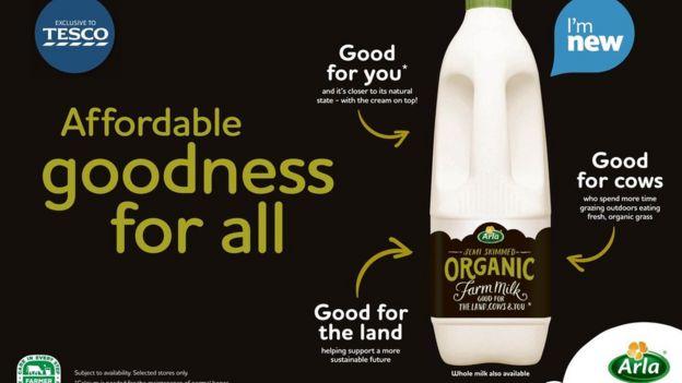 Arla's ad for organic milk
