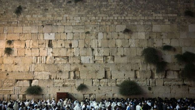 Le Mur des Lamentations, vestige du temple d 'Hérodote
