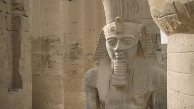 Colossus of Ramesses II, Luxor Temple (C. 1200 BCE)-Thebes, Egypt