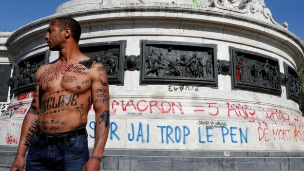 Protesta contra el racismo en Francia
