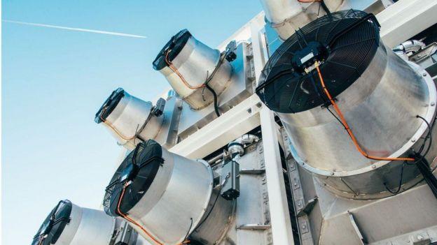 Dispositivo que aborve CO2 da atmosfera