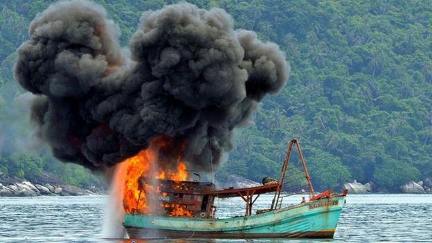 tàu cá, Việt Nam, Indonesia