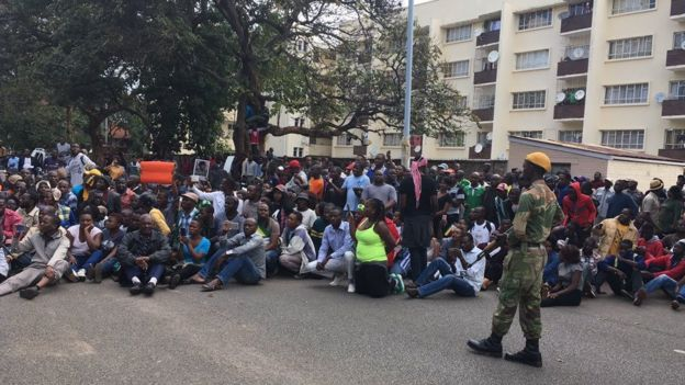 Sit-in outside State House
