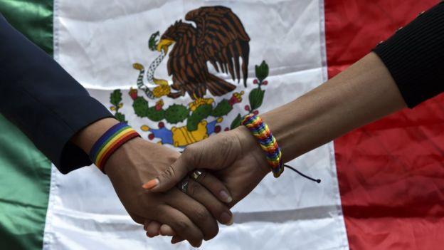 Marcha a favor de la comunidad LGBT en Mëxico