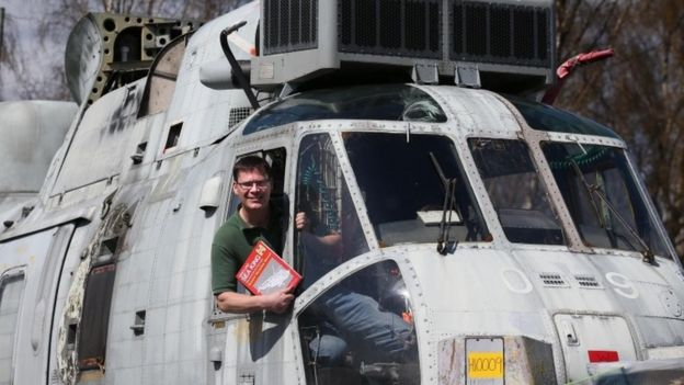 Sea King Helicopter Transformed Into Glamping Pod BBC News - Royal navy sea king gets transformed into unique glamping pod