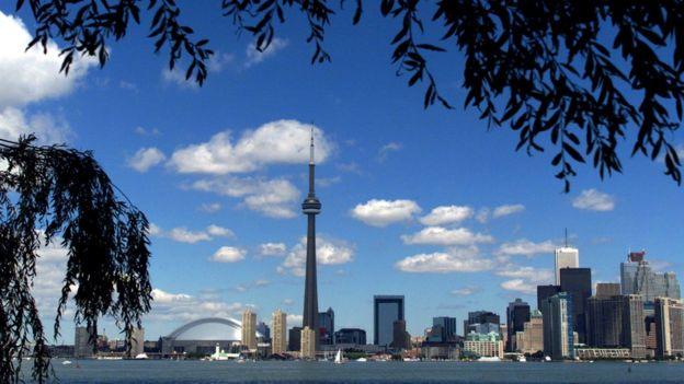 Imagen panorámica de Toronto, Canadá.