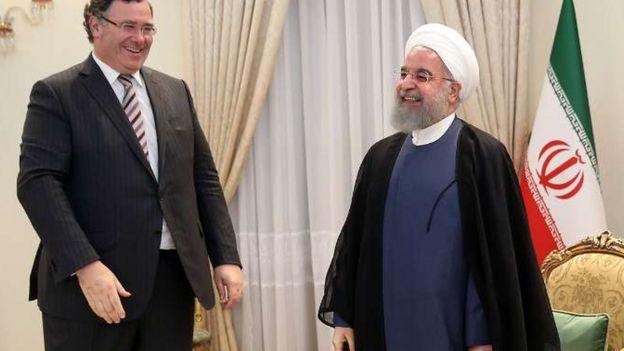 پاتریک پویانه، مدیر عامل توتال با حسن روحانی دیدار کرده است