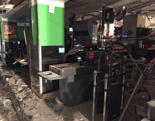 последствия взрыва в магазине