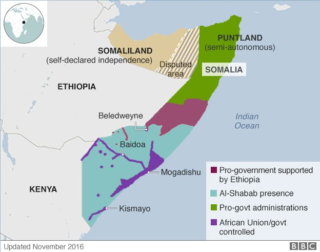Somalia Conflict US Suffers Rare Combat Loss In AlShabab Clash - Bbc election map us