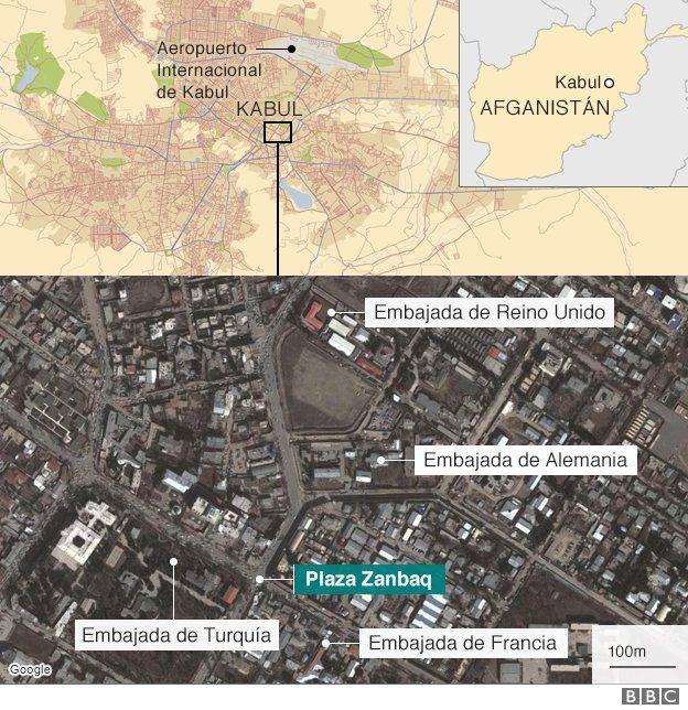 Mapa del sitio del ataque