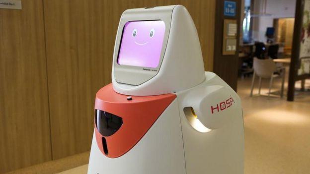 Robot en hospital de Singapur