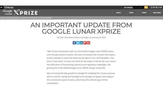 Sitio web de XPRIZE