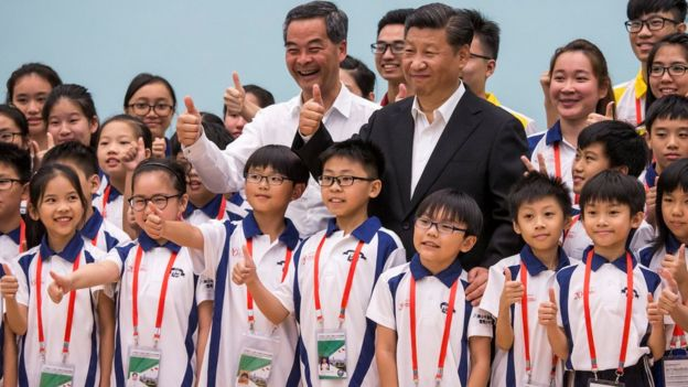 Xi Jinping en Hong Kong