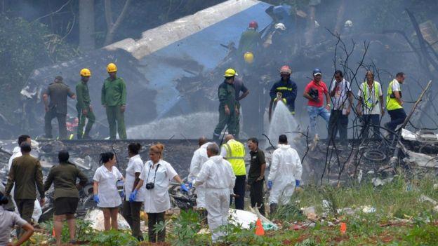 Lugar del accidente cerca del aeropuerto.