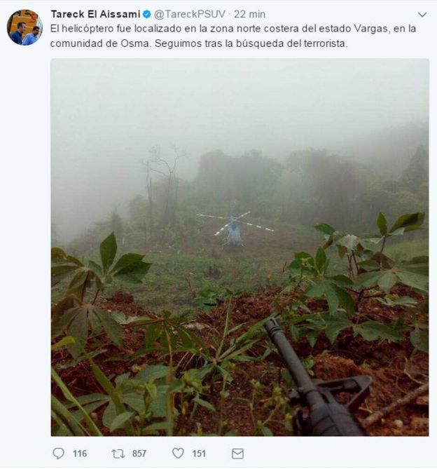 71023 Portadas Periodico Titulares 13 Octubre further Reaparece Protesta Opositora Piloto Que Ataco Congreso Venezuela likewise Revientan Lasredes Nuevo Mendaje De Oscar Perez A Venezuela in addition 4 Incognitas Que Deja El Ataque Desde additionally Maduro Alerta Militares Venezuela Caracas. on oscar perez helicoptero venezuela twitter