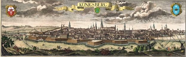 Antigo mapa de Königsberg