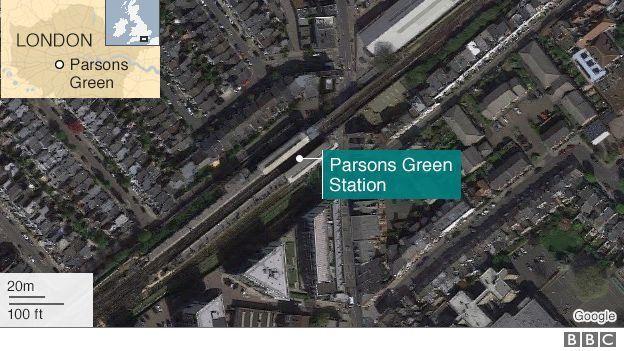 L'explosion a eu lieu dans la station de Parson Green