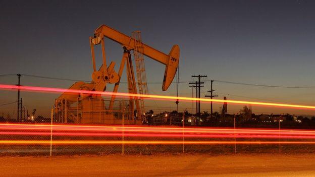 US oil rig