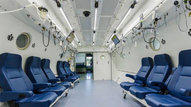 Cámara hiperbárica para varias personas