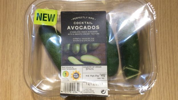 Avocados in box