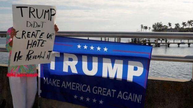 Một người ủng hộ ông Trump tại Florida tuần này.