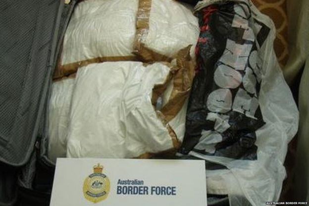 Bags of cocaine found on the ship
