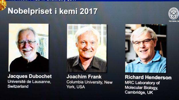 Trío ganador del Nobel
