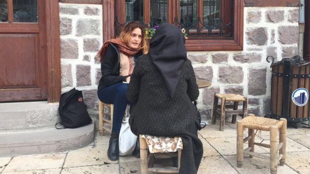Fundanur Öztürk'ün sorularını yanıtlayan kadınlar, fotoğraflarda yer almak istemedi.