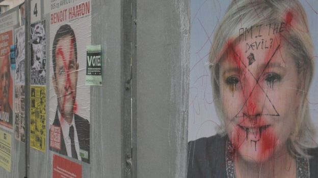 Marine Le Pen'in posteri