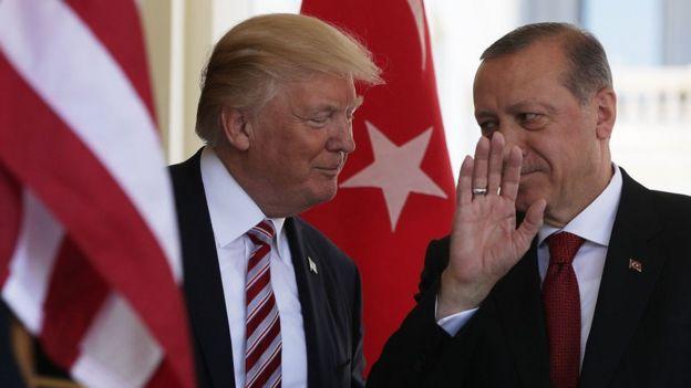 Erdoğan kapıda karşıanıyor Trump tarafından
