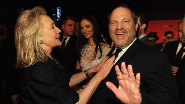 Hillary Clinton y Harvey Weinstein