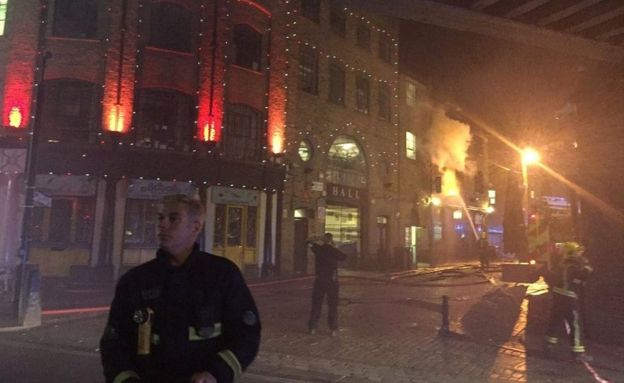 LFB took 37 emergency calls about the fire