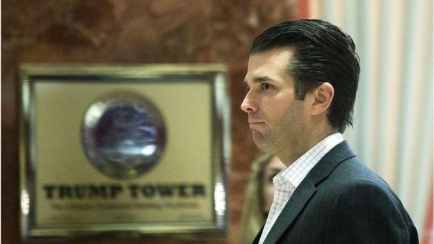 Donald Trump Jr in Trump Tower