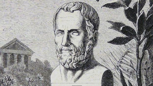 Gravura de busto de Teofrasto