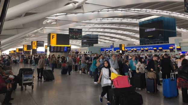 Heathrow Terminal 5 disruption