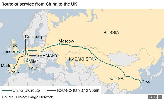 All aboard the ChinatoLondon freight train BBC News