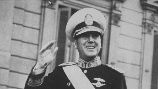 Президент Аргентины Хуан Доминго Перон
