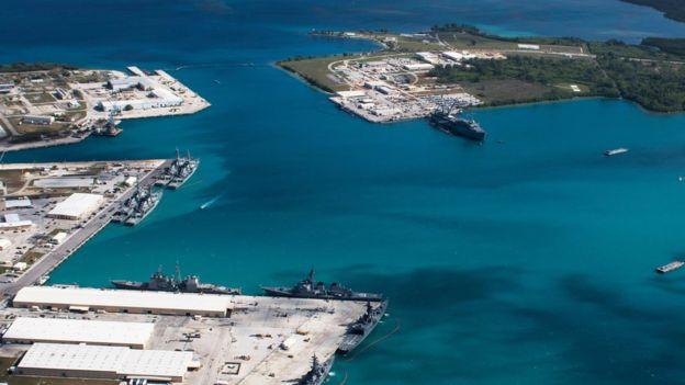 Base militar en la isla de Guam, que es territorio estadounidense.