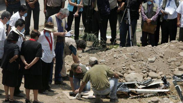 Exhumación de víctimas de La Cantuta, 2007